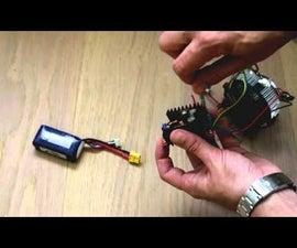homemade 100W LED flashlight