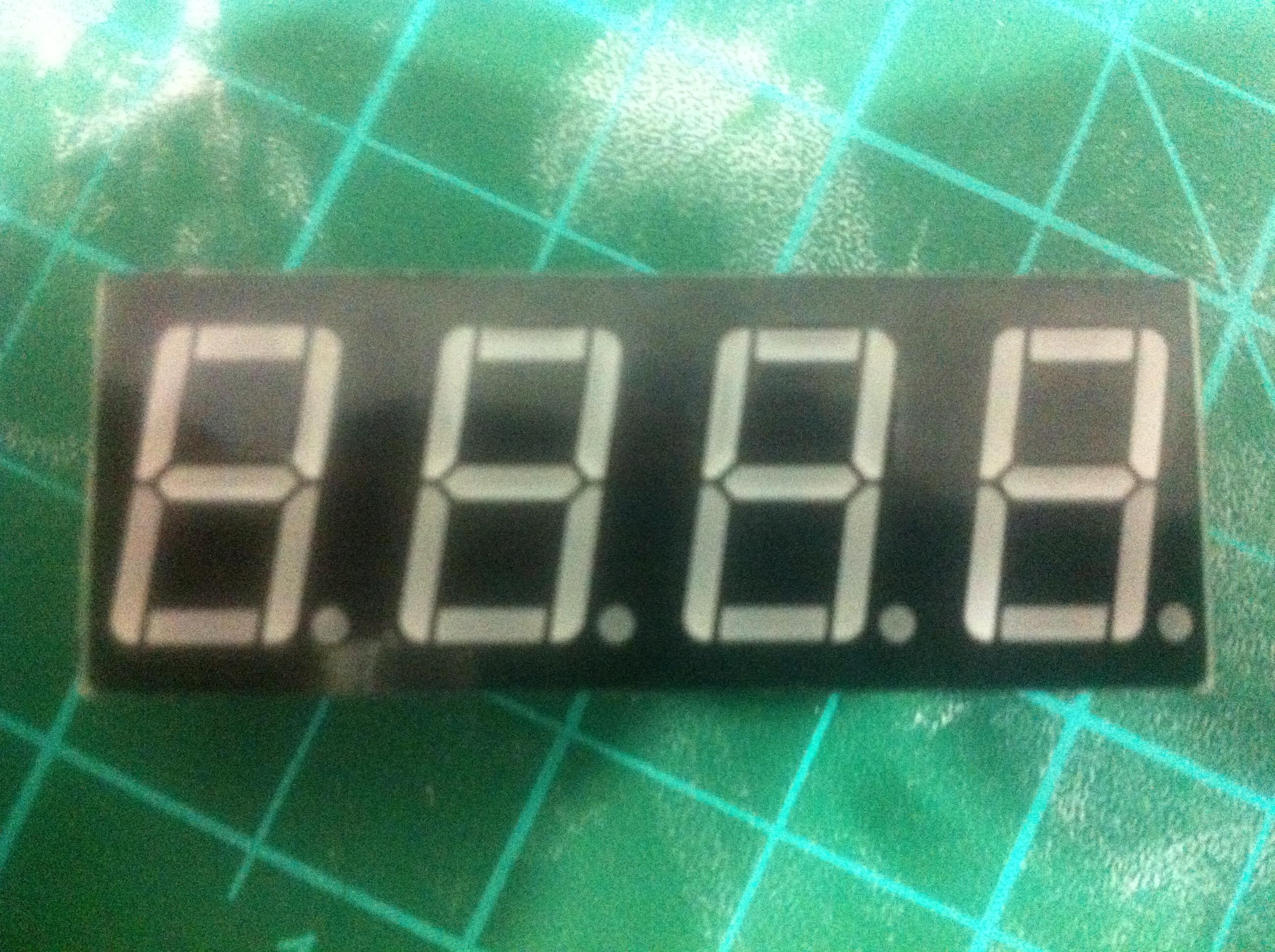 Picture of Arduino 4 Digit 7 Segment Display