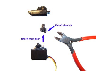 Pull Off Main Gear and Cut the Stop Tab