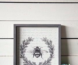 BEE You Wall Art DIY Project