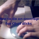 How to do an envelope for CD of disks