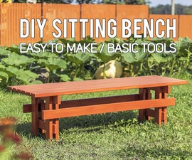 DIY Outdoor Sitting Bench