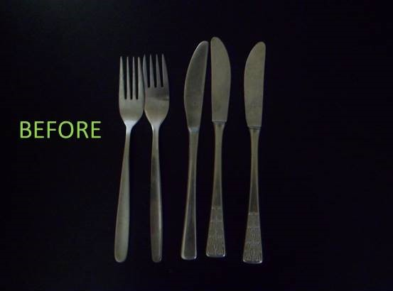 Picture of Cutlery Before and After