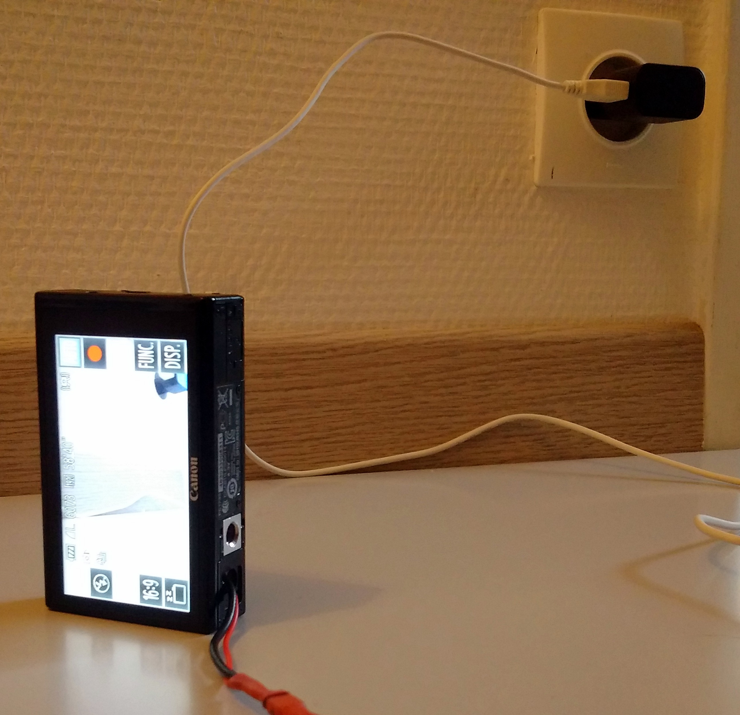 Picture of Digital Camera Power From USB or Wall Outlet (Canon 500HS 510HS or Other)