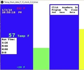 Temperature and Humidity Display and Data Collection With Arduino and Processing