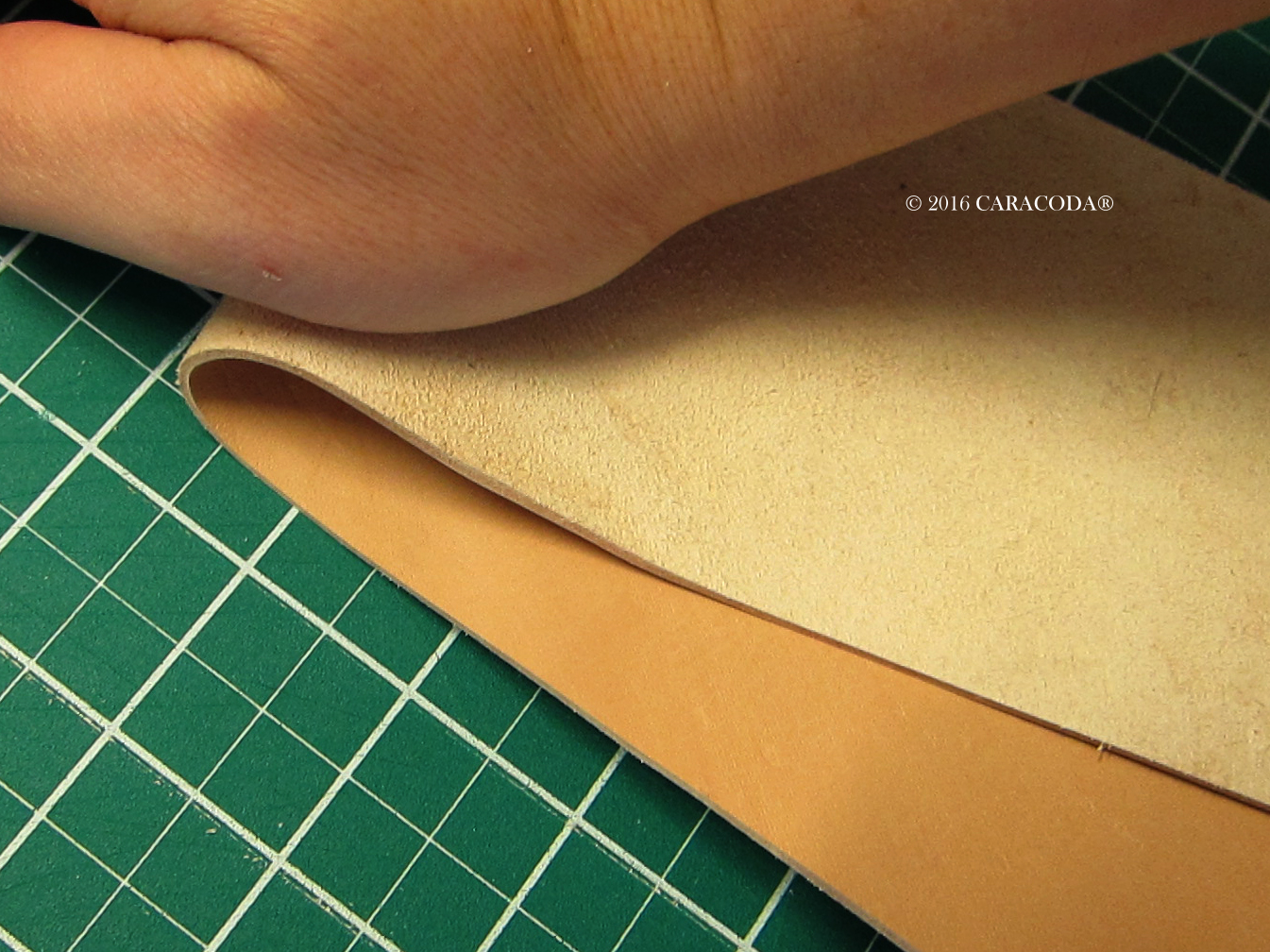 Picture of Preparing the Leather