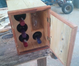 Wooden wine box from old pallets
