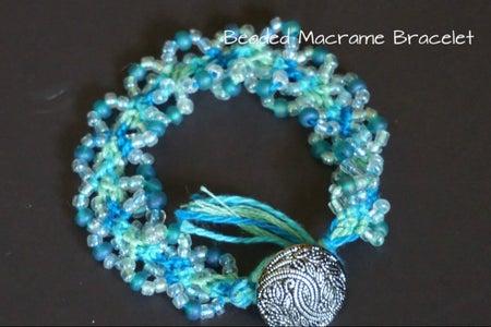 DIY Beaded Macrame Bracelet