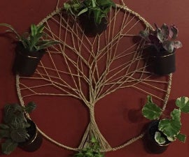 Tree of Life Wall Plant Hanger