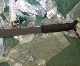 Machete Handle From Plastic Scrap and Paracord: