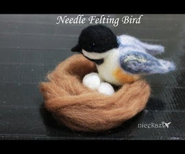 Needle Felting Bird DIY: Chickadee