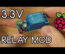 5V Relay Module Mod to Work With Raspberry Pi