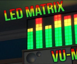 LED Matrix VU-Meter