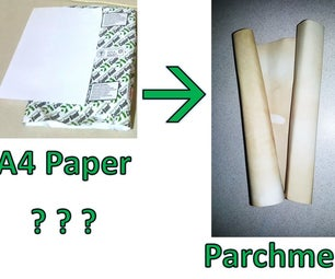 Turn A4 Paper to Fake Parchment