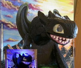 Toothless 3D illuminated painting