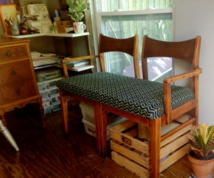 Make a Settee Bench From Two Chairs