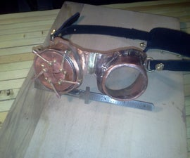 Steampunk Goggles with Mechanical Iris