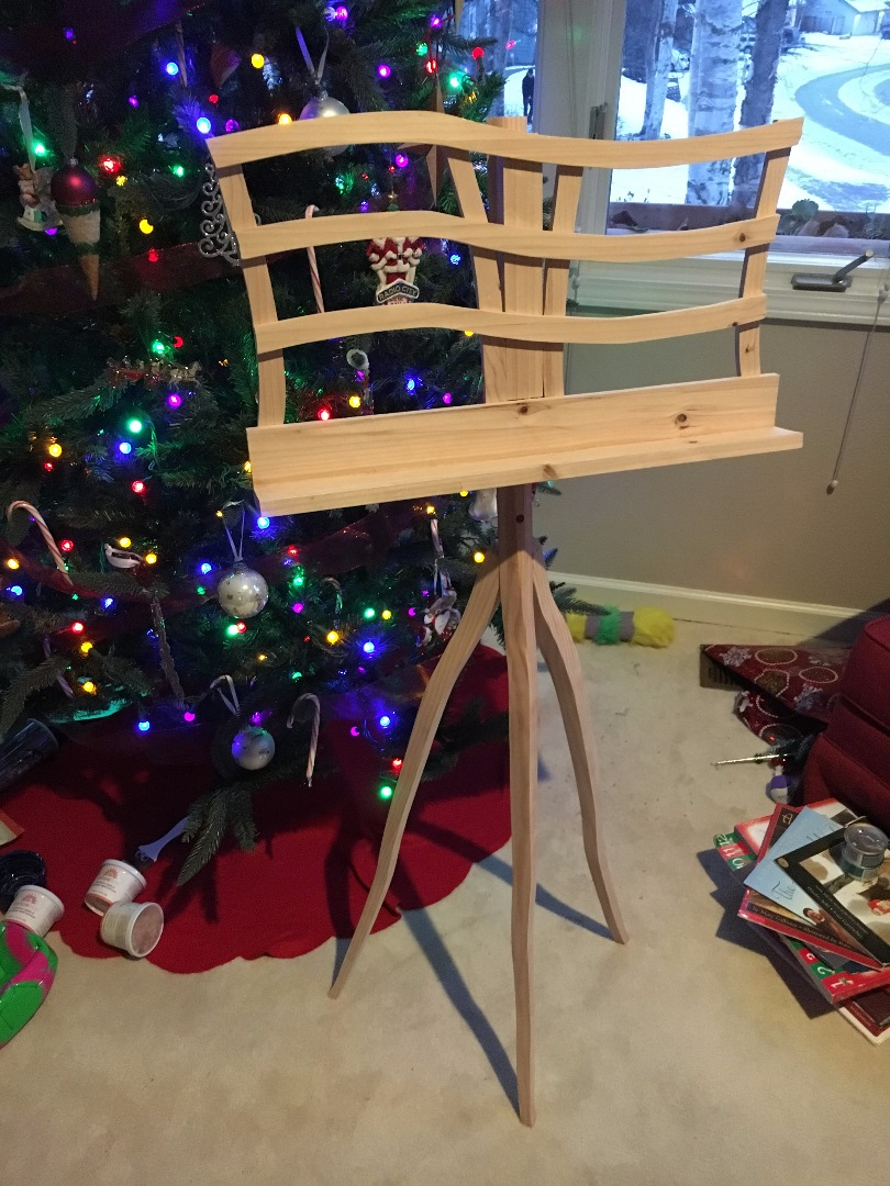 Picture of Music Stand From a Single 8 Foot 2x4
