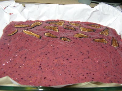 Transfer Fruits Puree Into Baking Pan or Sheet