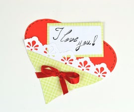 Paper Heart - Last Minute Gift Cards for Valentine's Day - DIY Crafts