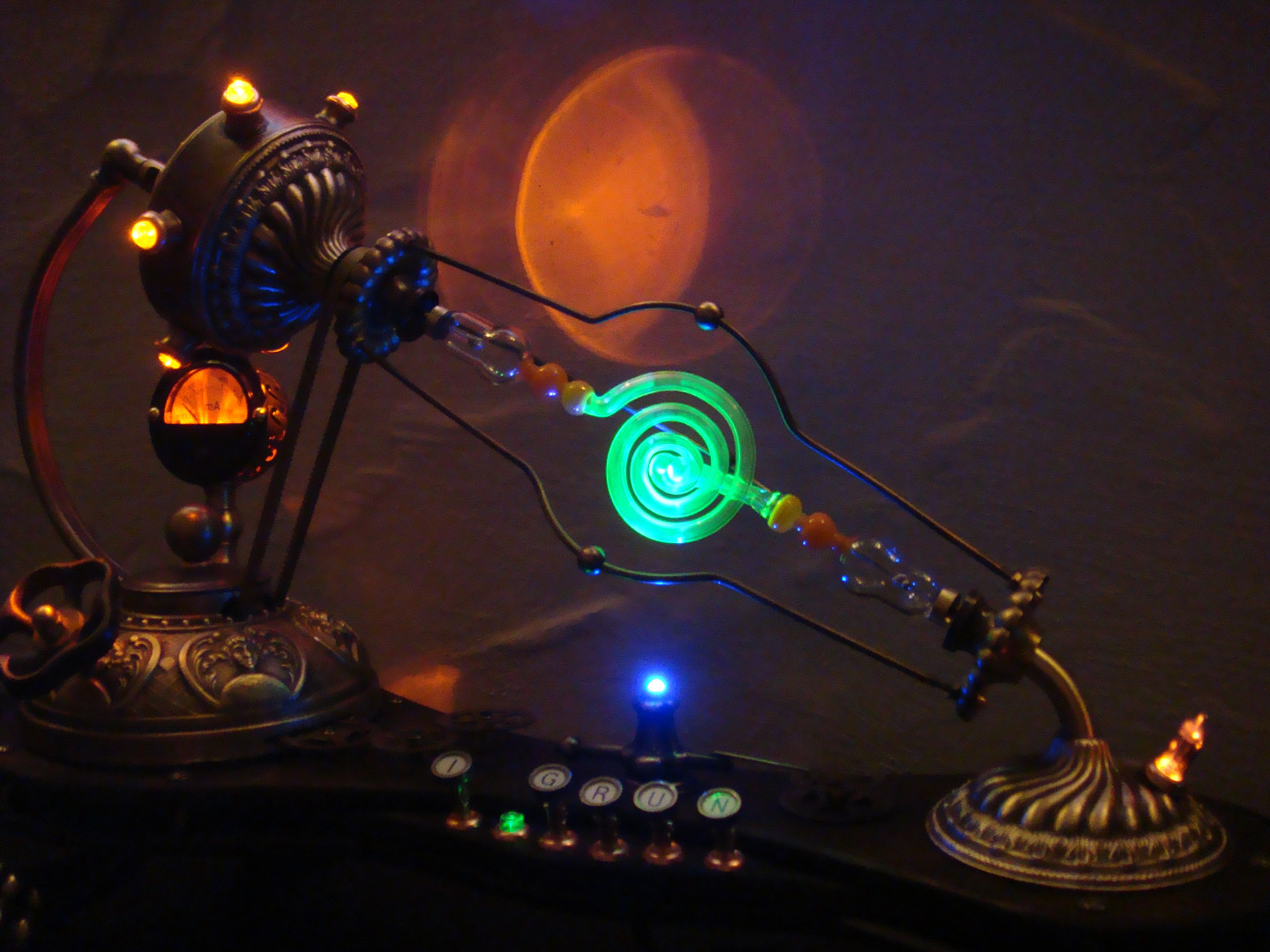 Picture of IGRUN - Daughter of Aetheria. a High Voltage Steampunk Lamp