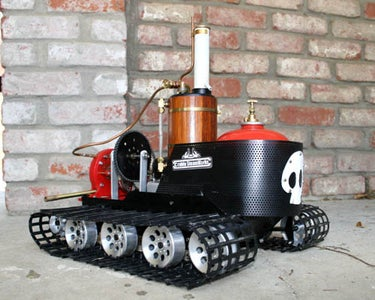 The Finished R/C Steam Turbine Tank!