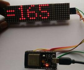SCROLLING INSTAGRAM FOLLOWERS IN 8X32 LED DOT MATRIX DISPLAY USING ESP32