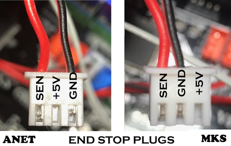 Changing the End-stop and Thermistor Connectors.