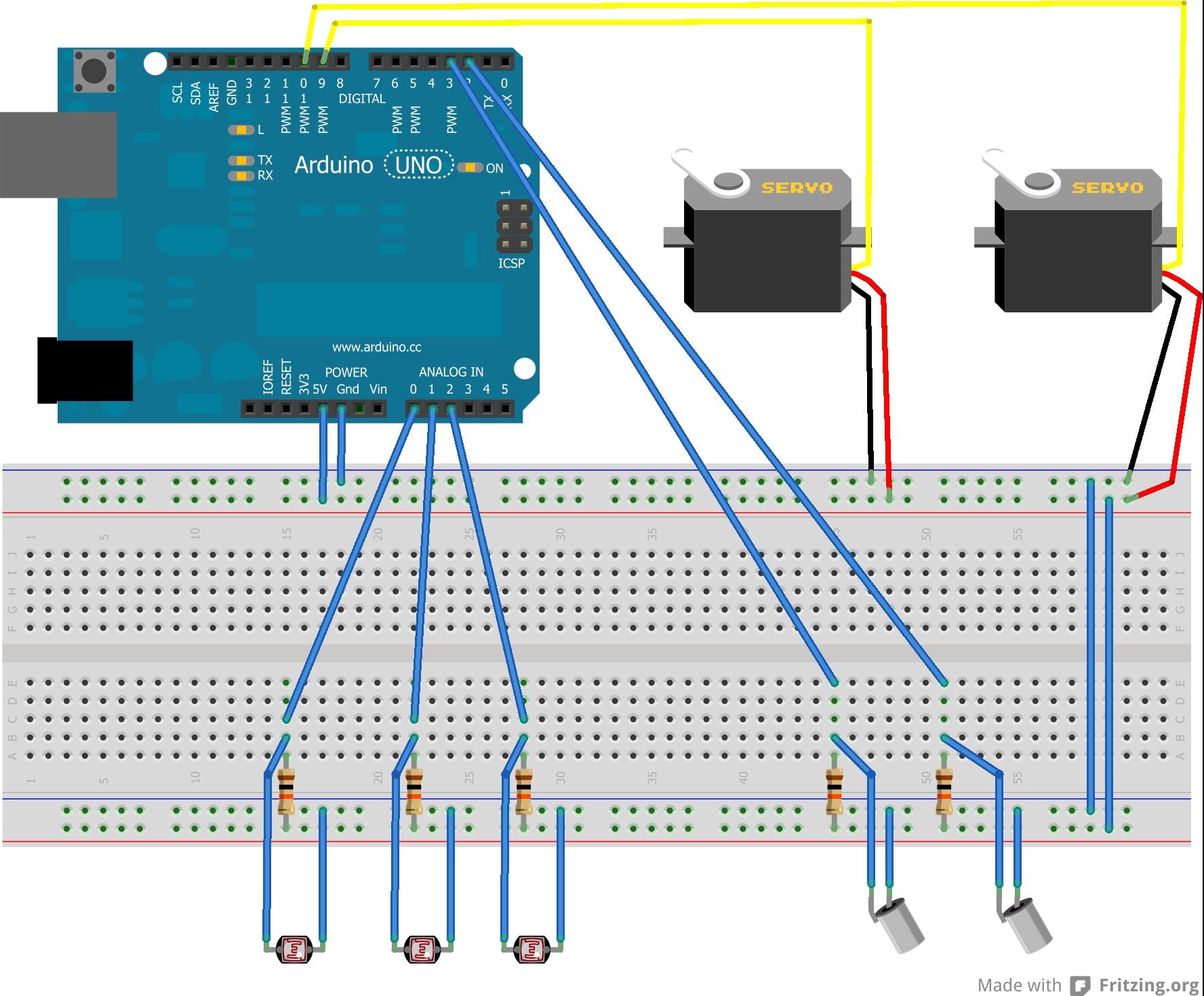 Arduino 2-axis Servo Solar Tracker: 6 Steps