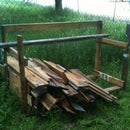 Wood Storage Shelves via Recyclable Pallet