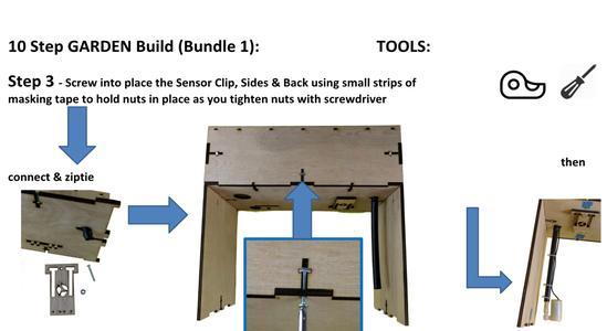 Sensor Clip, Sides & Back Panels