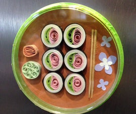 Quilled Sushi Magnet