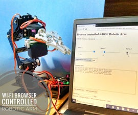 Wi-Fi Browser  Controlled Robotic Arm (with Arduino and ESP8266)