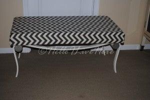 $3 Garage Sale Table Frame Turned Bench