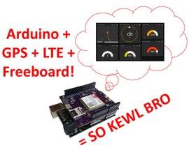 Arduino LTE Shield GPS Tracking + Freeboard.io