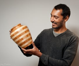 Making of a segmented vase - I made it at TechShop