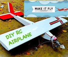 Scratch Built RC Airplane(20cc Gas Powered)