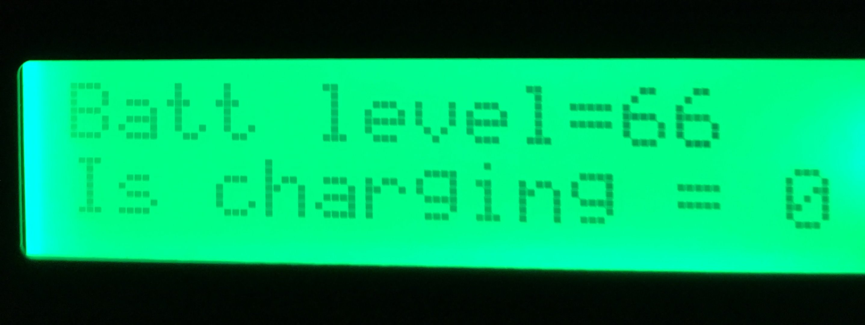 Picture of LCD Output