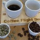 """Coffee Flight Deck"" for coffee tasting"