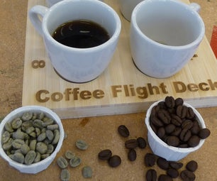 """Coffee Flight Deck"" for Coffee Tasting"