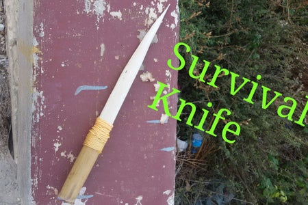 Survival Wooden Knife