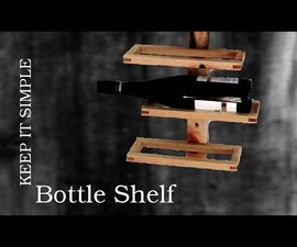 Bottle Rack Made of Scrap Wood