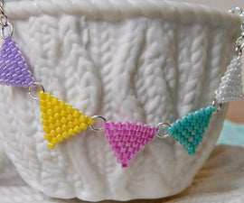 DIY Brick Stitch Bunting Necklace ¦ The Corner of Craft