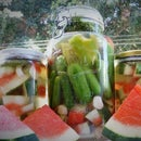 Fermented Watermelon Rind Pickles