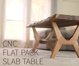 Flat-Pack CNC Modern Coffee Table