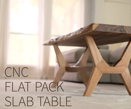 Flat-Pack CNC Modern Coffee Table