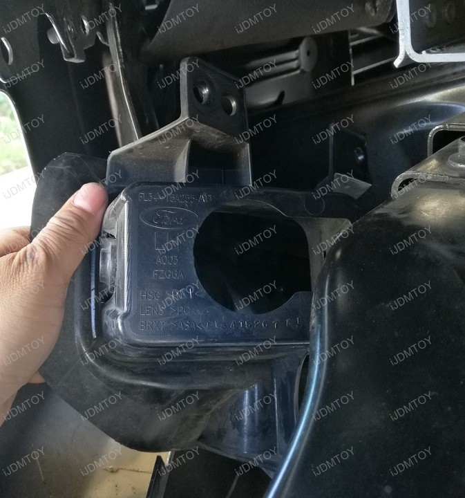 Picture of Take Out the Bezel From the Fog Light Opening.