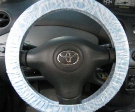 Sewing a Steering Wheel Cover (aka: swimsuit elastic practice)