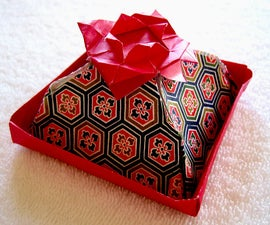How to make an origami Lotus Flower Cake Box!