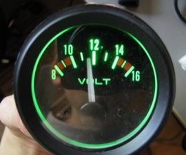 """Car Voltage Meter,analog Version(with """"smart"""" Backlight)"""